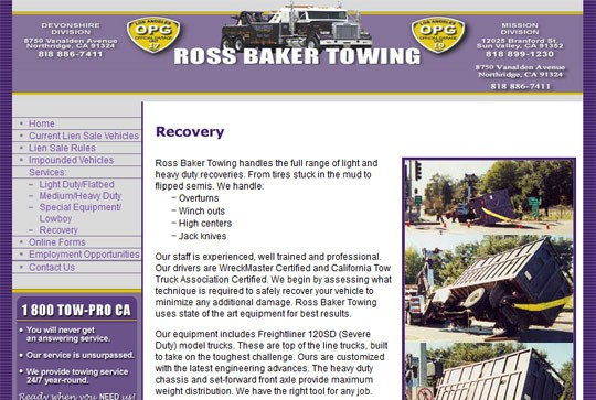 Ross Baker Towing